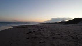日落, Corrimal海滩,澳大利亚 免版税图库摄影