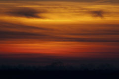 日落, Delta del Po,威尼托,意大利 免版税库存照片