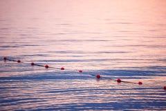 日落 在海上的美好的日落 湖sunet 惊人的日落令人敬畏的日落 日落海波浪 在杉木常设夏天日落结构树二之后 库存图片