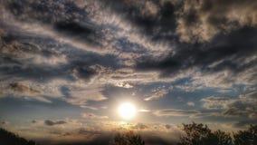 日落/天堂/天空在斯洛伐克1 免版税库存照片
