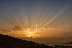 日落&微明的颜色 图库摄影