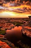 日落-海角圣法兰西斯 库存图片