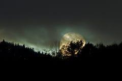 日落;神秘 免版税库存图片
