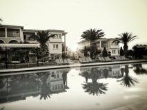 日落黑色&白色 库存照片
