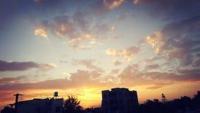 日落!许多美好的颜色! 库存照片