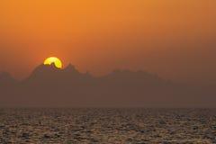 日落2红海 免版税库存图片