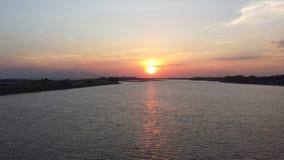日落apure河01 图库摄影