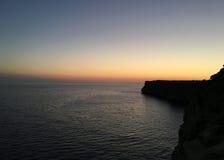 日落Menorca 库存照片