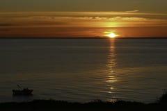 日落Mornington,维多利亚 库存照片