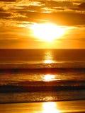 日落Ostional海滩哥斯达黎加 库存图片