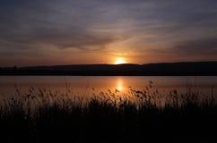 日落Penrith湖 库存照片