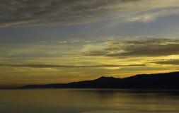 日落ver亚得里亚海 库存照片