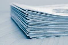 日记帐堆积白色 免版税库存照片