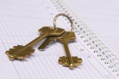 日记帐锁上每星期 免版税库存照片