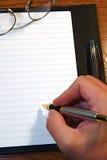 日记帐页 免版税图库摄影