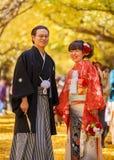 日语修饰和新娘 免版税库存图片