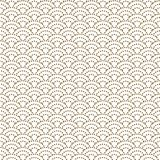 日语挥动在金线颜色样式的被加点的传统传染媒介无缝的样式 皇族释放例证