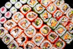 日语滚寿司 免版税图库摄影