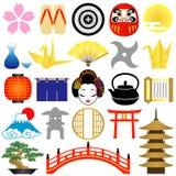 日语的图标 库存照片