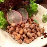 日语被发酵的豆 免版税库存照片