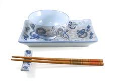 日语2双碗的筷子 图库摄影