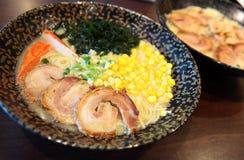 日语ramen 免版税库存照片