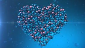 日重点例证爱s华伦泰 光亮的球气球创造华伦泰心脏 有益于爱情小说介绍和婚礼录影 向量例证