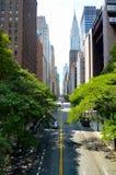 日间纽约地平线 库存照片