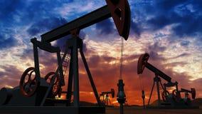 日6月卡扎克斯坦月西部的油泵 皇族释放例证