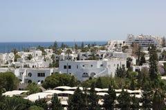 日el haouaria好的晴朗的突尼斯视图 免版税图库摄影