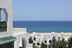 日el haouaria好的晴朗的突尼斯视图 免版税库存图片