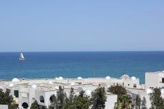 日el haouaria好的晴朗的突尼斯视图 库存照片