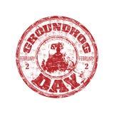 日groundhog不加考虑表赞同的人 免版税库存照片
