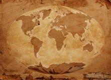 旧世界映射 库存照片