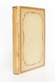 旧书与装饰框架的盖子空白 免版税图库摄影