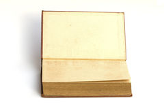旧书张开两面孔 免版税库存图片