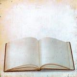旧书空白纸纪录的在葡萄酒背景 免版税库存照片