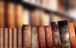 旧书,图书馆 免版税库存图片