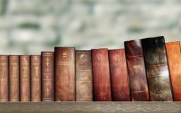 旧书,图书馆 免版税库存照片