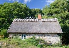 旧式的瑞典房子 免版税库存图片