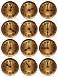 旧时时钟的时数 免版税库存图片