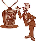 旧时电视 免版税图库摄影