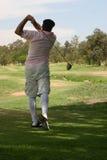 旧时的高尔夫球运动员 免版税图库摄影