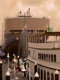 旧时船坞 免版税库存照片