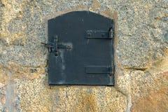 旧时金属舱口盖 库存图片