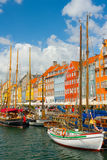 旧港口在哥本哈根 库存照片