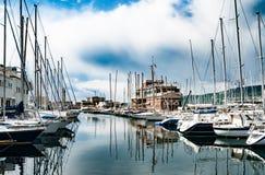旧港口在的里雅斯特,意大利 免版税库存照片