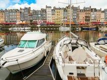 旧港口 05法国honfleur诺曼底 库存照片