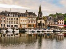 旧港口 05法国honfleur诺曼底 免版税图库摄影