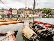 旧港口 05法国honfleur诺曼底 库存图片